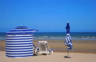 The beach of Cabourg