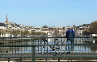 Enjoy a walk on the harbour of Caen